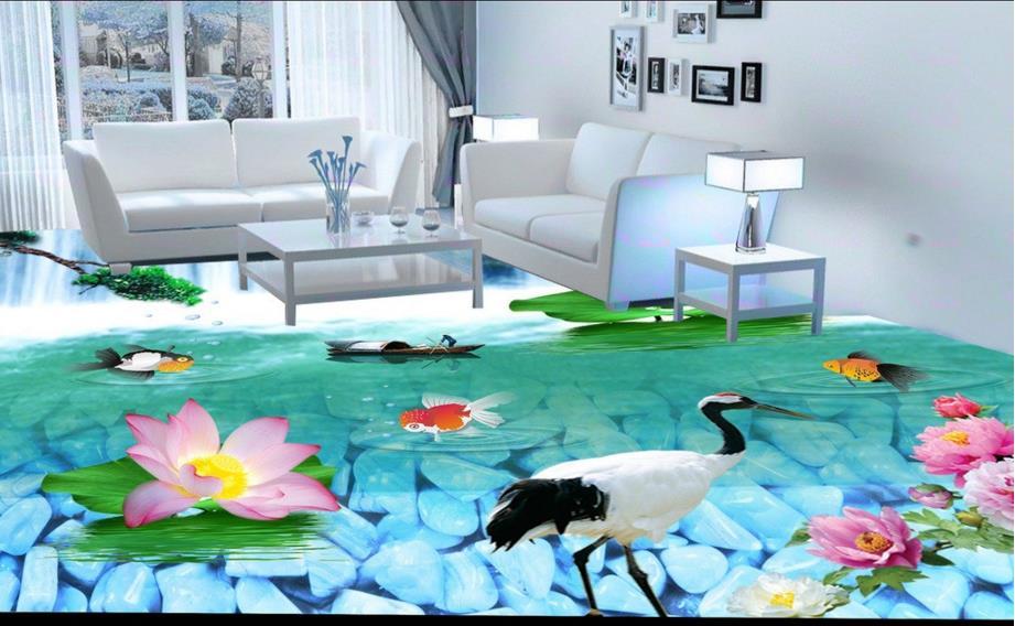 Lovely 3d Floor Painting Wallpaper River Bathroom Bedroom 3d Floor Waterproof Wallpaper For Bathroom Wall 3d Flooring Home Improvement Painting Supplies & Wall Treatments