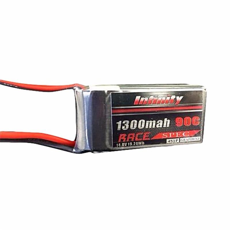 Rechargeable Lipo Battery For Infinity 1300mah 14.8V 90C 4S1P Race Spec Lipo Battery For RC Multirotor Quadcopter Helicopter 3 6v 2400mah rechargeable battery pack for psp 3000 2000