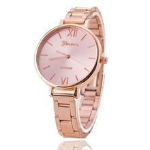 Luxury watch women fashion Brand Geneva Watches Reloj Mujer Stainless Steel Quality Ladies Quartz Watch Relogio Feminino цена 2017