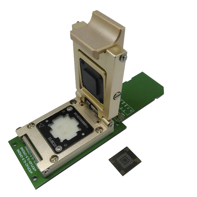 US $168 0 |eMMC test socket to SD Interface Nand flash pogo pin BGA153/169  Reader Chip Size 12x18mm Pitch 0 5mm smart phone date recovery-in