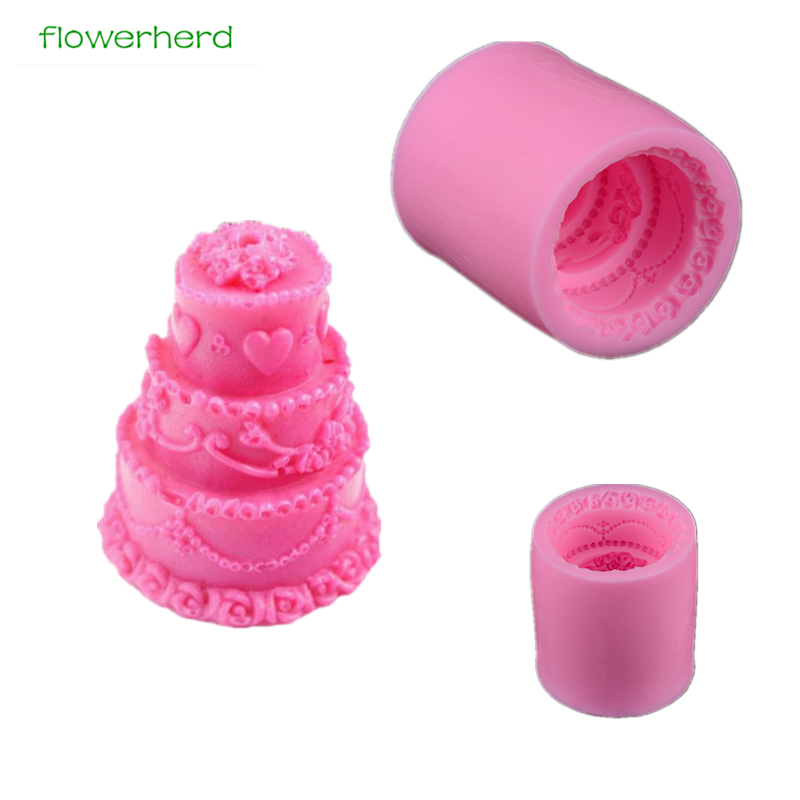 1pc High Quality DIY Candle Crafts Molds Cake Shape Mold