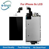 E-confiance Assemblée Complet Pour iPhone 5S LCD Affichage Écran Tactile Complet Digitizer Pièces AAA Accueil Bouton + Avant caméra + Livraison Gratuite