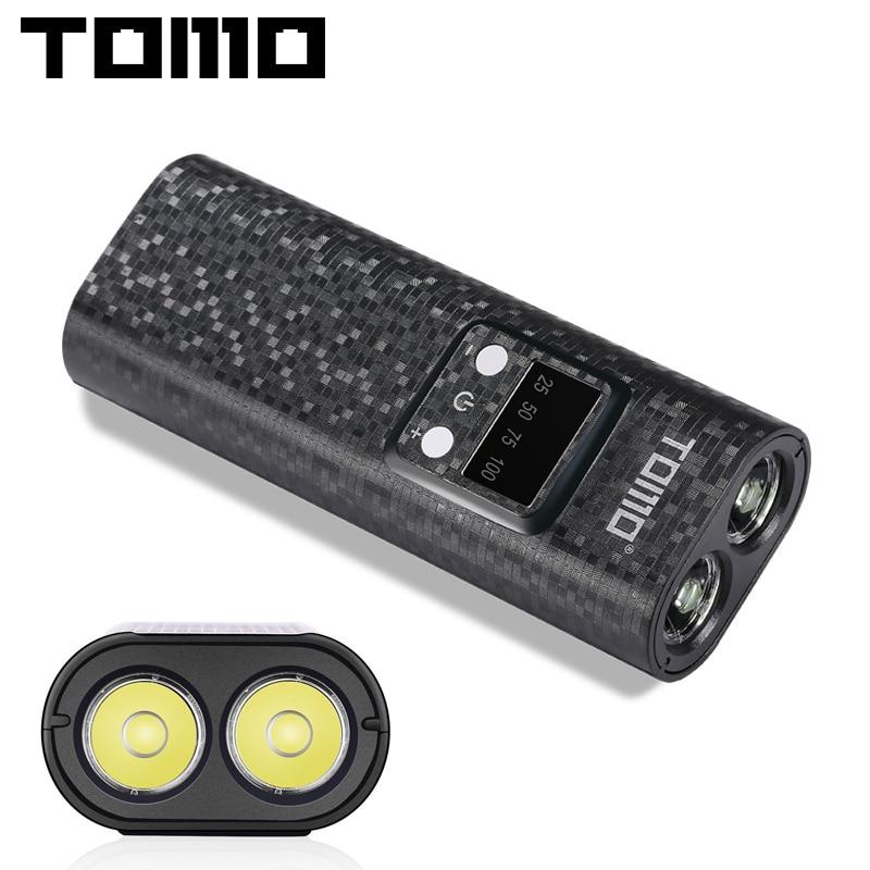 TOMO USB Интеллектуальный 18650 литий-ионный аккумулятор зарядное устройство Портативный ЖК Смарт DIY мобильный Банк питания чехол с фонариком дл...