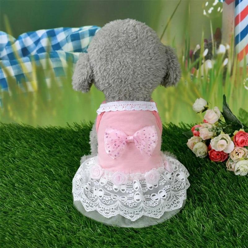 Bow Lace Pet Princess Costume
