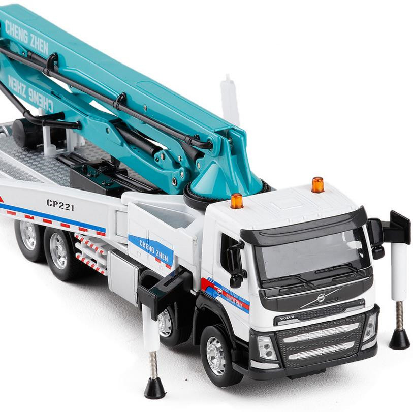1:50 Volvo engineering concrete pump truck alloy toy vehicle diecasts metal model sound&light collection models free shipping