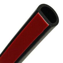 2 teile/los Kleine D 4 Meter 3 M Echtes Klebstoff Auto Gummi Dichtung Sound Isolierung Anti Lärm Auto Tür Abdichtung streifen Gummi Dichtungen