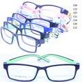 Lote por atacado 212 do miúdo enviromental segurança bendable TR90 silicone bicolor retângulo prescrição óculos de armação frete grátis