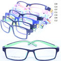 wholesale lot 212 kid's enviromental safety bendable TR90 silicone bicolor rectangle prescription glasses frame free shipping
