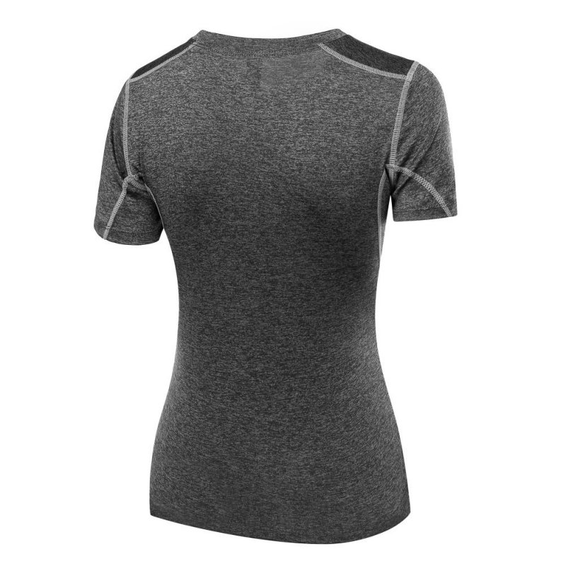 High Quality Chic Womens Sport Running T-Shirts Elastic Slim Short Sleeve Quick Dry T-Shirt Clothes