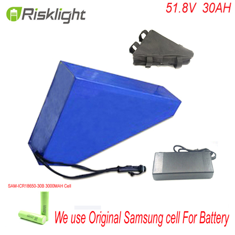 Triangle 1000W 51 8V 30AH Electric Bicycle Battery 52V Lithium Battery 52V 30AH E Bike Battery