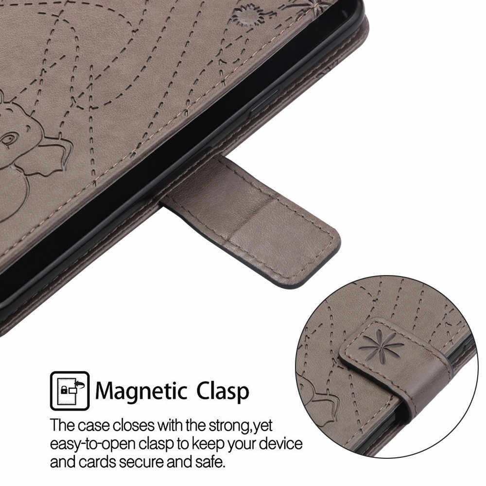 Flip Leather Book Phone Case Shell for Xiaomi Redmi Note 5 6 5A Prime Pro Mi A2 Lite Pocophone F1 Fireworks Elephant Embossed