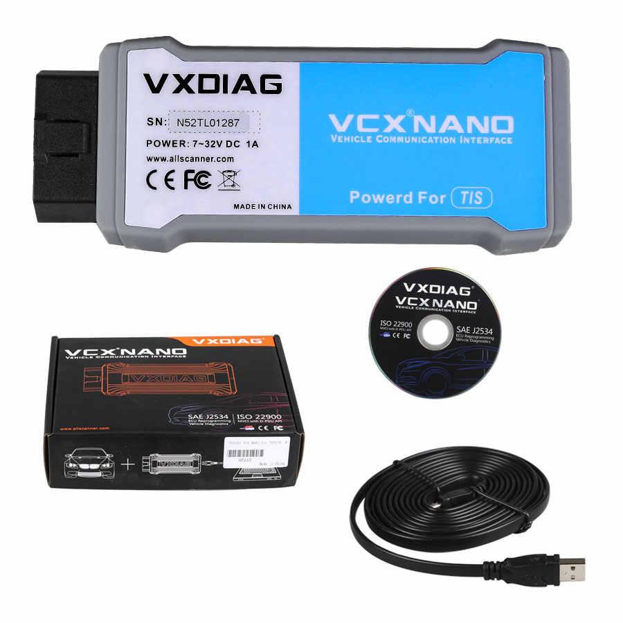 VXDIAG VCX NANO für TOYOTA TIS Techstream V12.00.127 Kompatibel mit SAE J2534 VXDIAG VCX NANO für Toyota Diagnose-Tool