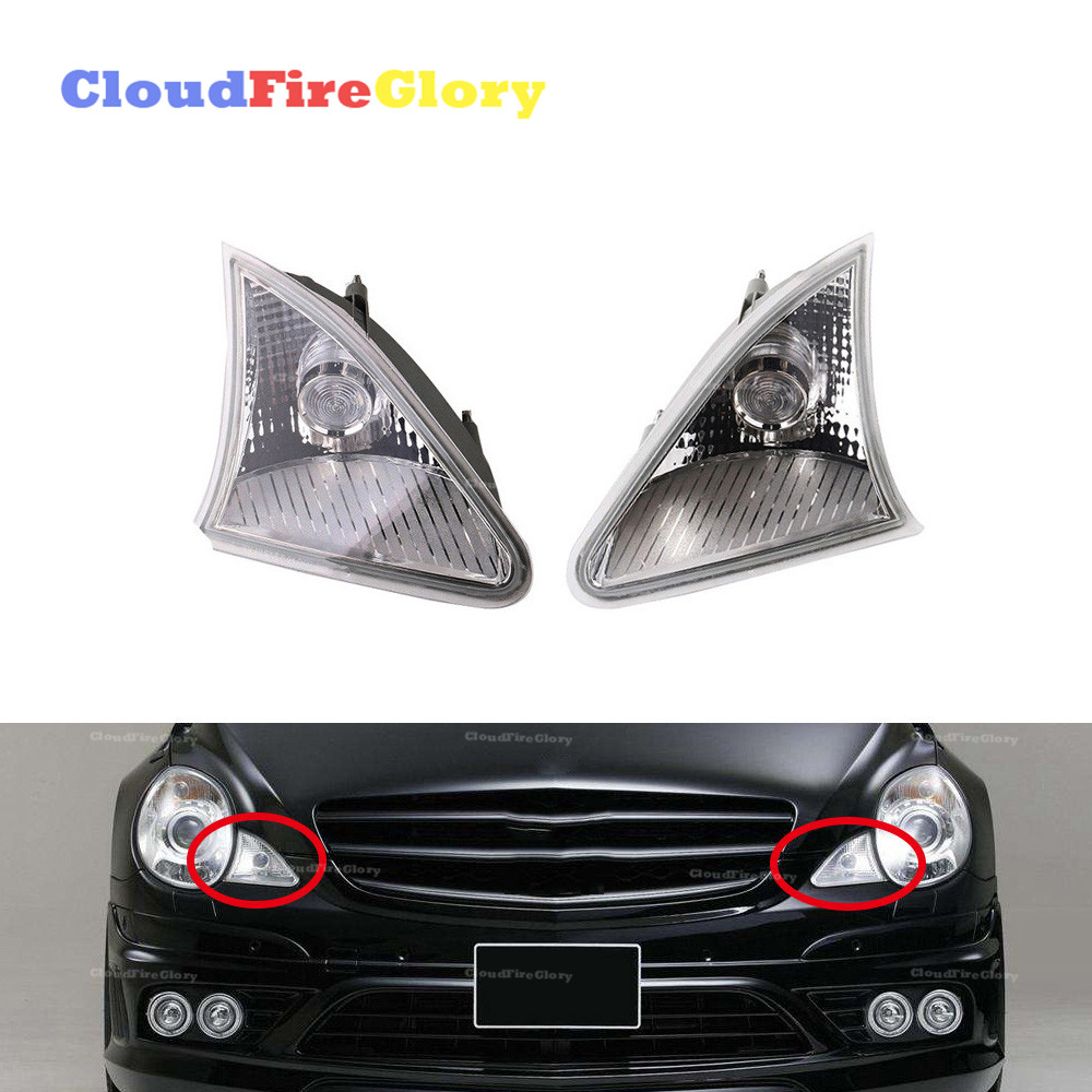 CloudFireGlory For Mercedes W251 2006 2009 R320 R350 R500 R63 Pair Position Lights Front Parking Lamps