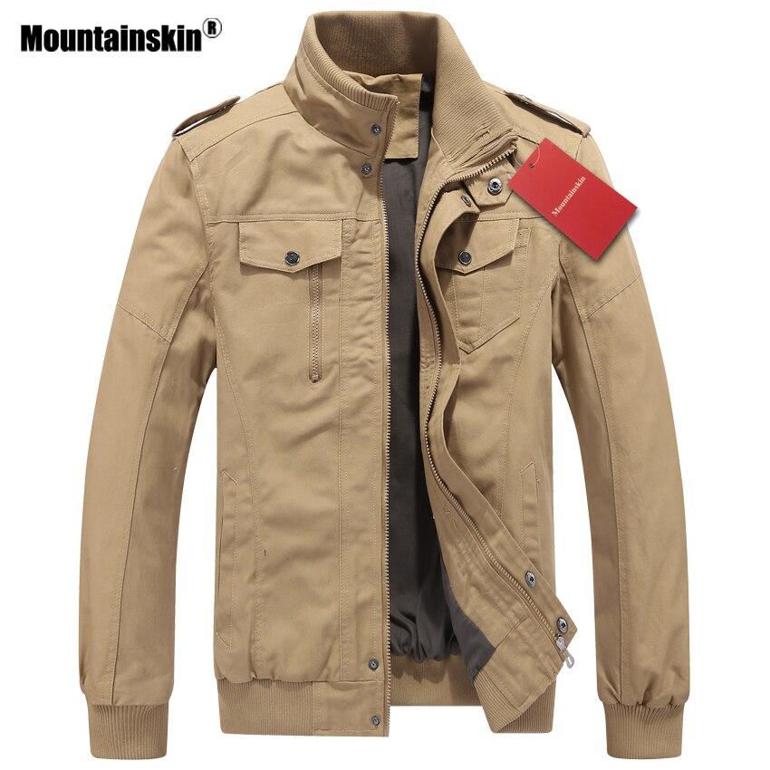 Mountainskin 2018 Nouveau Printemps Automne Hommes de Veste Militaire de Survêtement Hommes Manteau Bomber Vestes Hommes Marque Vêtements NOUS Taille SA446