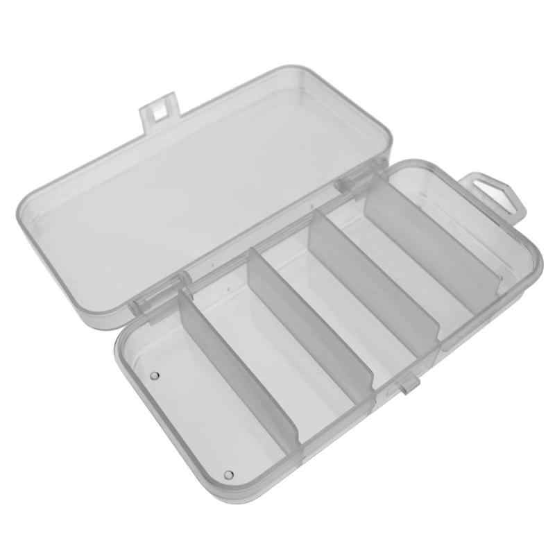 5 Compartments Fishing Tackle Box Plastic Waterproof fishing equipment Fish Lure  Hook Bait Storage Case Organizer Container