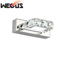 Modern bedroom foyer 16cm wall lamp 110V 220V 3W led  crystal bathroom decoration sconce
