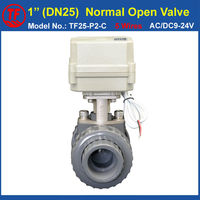 CR502 Wiring 1 PVC DN25 Normal Open Valve TF25 P2 C AC DC9 24V 5 Wires