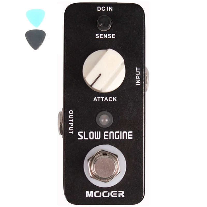 MOOER Guitarra Effect Pedal Slow Engine Control The Volume Knob Full Metal Shell  Guitar Accessories aroma ac stage acoustic guitar simulator effect pedal aas 3 high sensitive durable top knob volume knob true bypass metal shell