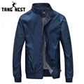 TANGNEST British Style 2016 Newest Autumn Man's Thin Jacket Fashion Slim Fit Mandarin Collar Men Jacket Asian Size M-XXXL MWJ897