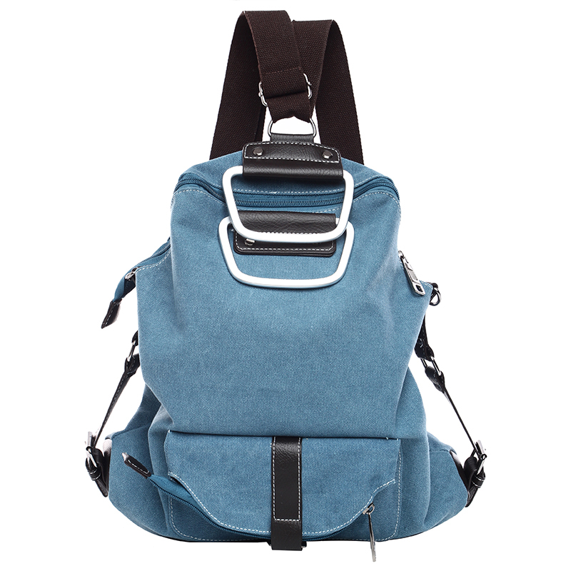 Loshaka Canvas Backpack Female Casual Backpacks Multifunctiona Portable Bags Crossbody School Bag Travel Women Bag 13 laptop backpack bag school travel national style waterproof canvas computer backpacks bags unique 13 15 women retro bags