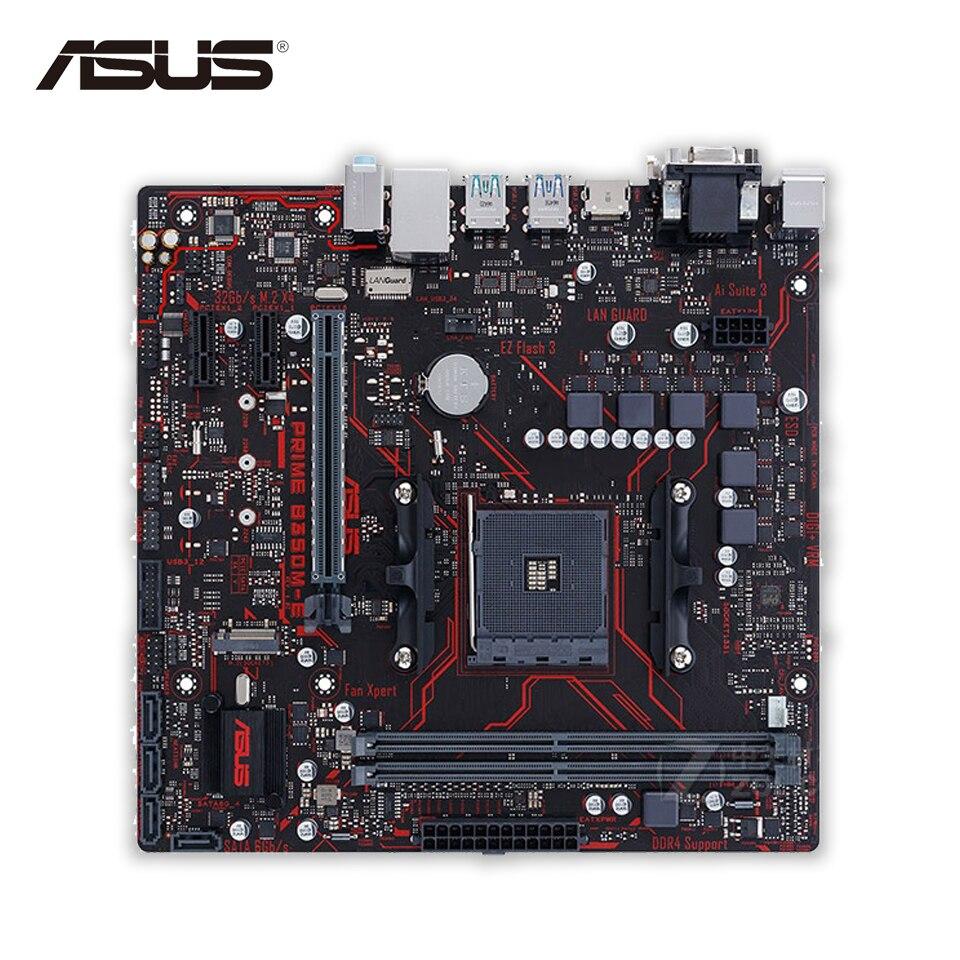 Asus PRIME B350M-E Desktop Motherboard AMD B350 Socket AM4 AMD Ryzen DDR4 64G SATA3 USB3.1 Micro-ATX