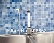 Поворотный Chrome Смеситель для кухни латунь спрей Носик судно раковины тазика Одной ручкой Палуба Гора смесителя vanity MF-640