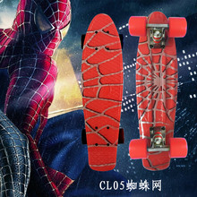 Soort Hip Hop Retro Mini Cruiser Skateboard Batman Patroon Mini Board Skateboard voor Outdoor Sport Straat Jongens Voor Kind