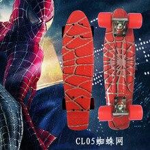 Tipo di Hip Hop Retrò Mini Cruiser Skateboard Batman Modello Mini Bordo di Skateboard per Lo Sport Allaperto Ragazzi di Strada Per Il Bambino