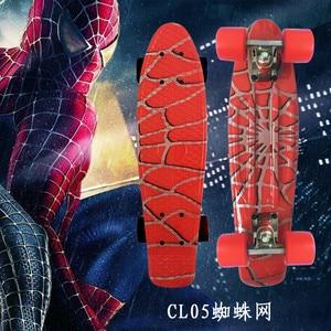 Image 1 - Type Hip hop Retro Mini Cruiser Skateboard Batman Pattern Mini Board Skateboard for Outdoor Sport Street Boys For Child