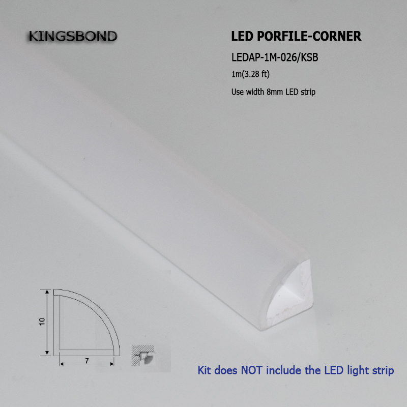 Super slim V type Waterproof led profile IP68 Opal Matte PMMA for led strip light cabinet lighting or bath room