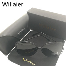 Willaier Oversized Metal Frame UV Polarized Women Sunglasses Female Mirror Black Blue Eyewear Accessories Retro Luxury Glasses