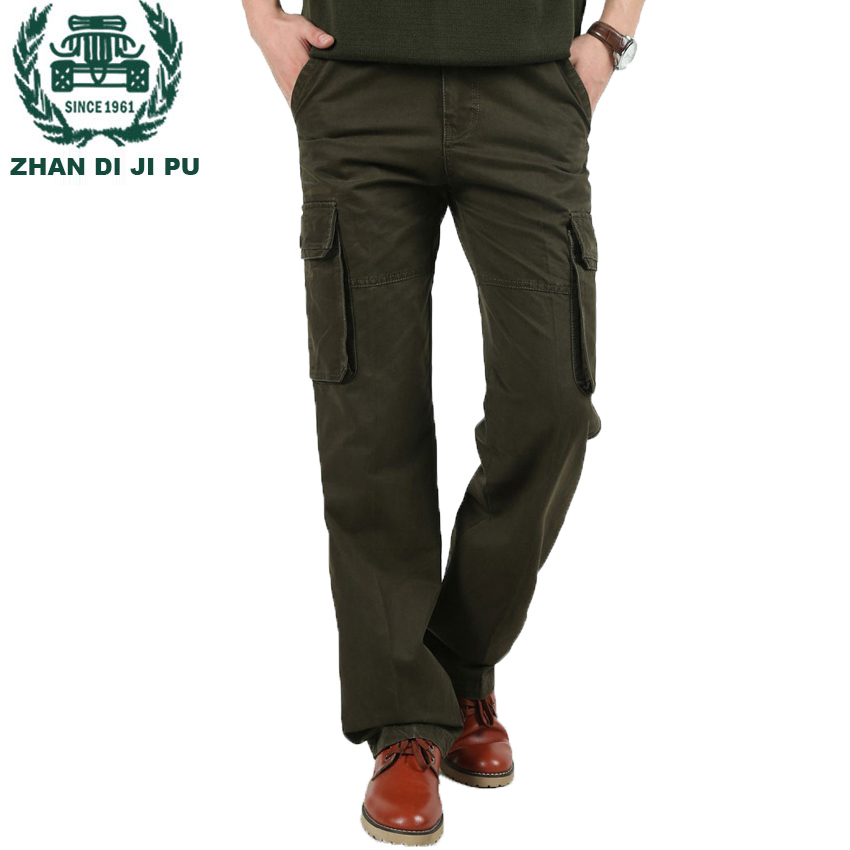 e8f1ef64e0 AFS JEEP Brand High Quality Men Cargo Pants Casual Mens Pant Multi Pocket  Military Overall Mens Long Trousers Plus size 30-46 86 ~ Super Sale June  2019