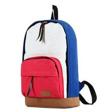 2016 New casual shoulder Shoulders package women's colorful canvas Plaid backpacks travel student school bags backpack
