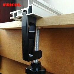 2 pçs/pçs/set carpintaria fixação especial grampos g braçadeira para cerca de trabalho madeira e 45 tipo t faixa slot clipes mais grossos 65mm