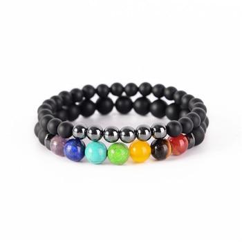 2pcs/set 7 Chakra Bracelet