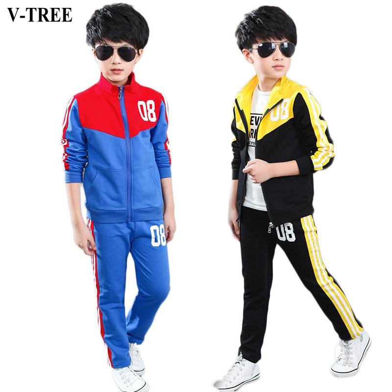 V TREE 2017 musim semi remaja laki laki pakaian set zipper olahraga pakaian untuk anak laki anak anak olahraga beli murah anak anak olahraga lots from china,Baju Anak Anak Olahraga