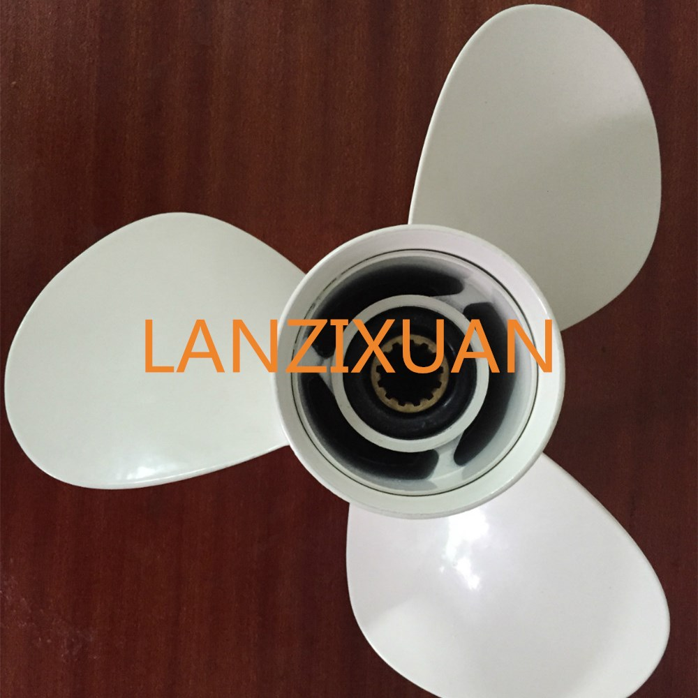 Aluminum propeller for suzuki yamaha honda tohatsu for 11 1 8 x 13 g yamaha
