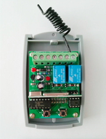 2017 New Universal 2 Channel Wireless Garage Door 433MHZ DC12V 24V Rolling Code Receiver