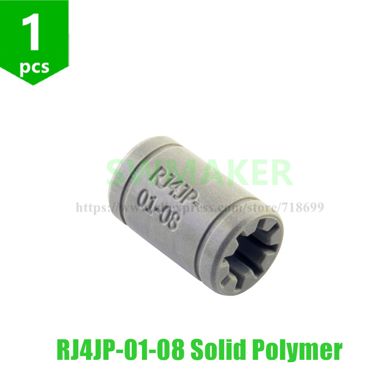 SWMAKER 1pcs RJ4JP-01-08 Solid Polymer Igus Drylin LM8UU Bearing 8mm Shaft Drylin For Anet A8 Reprap Prusa I3 3D Printer