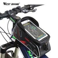 WEST BIKING Bicycle Bag MTB Bike Front Frame Top Tube Bag Accessories Waterproof Anti Skid For