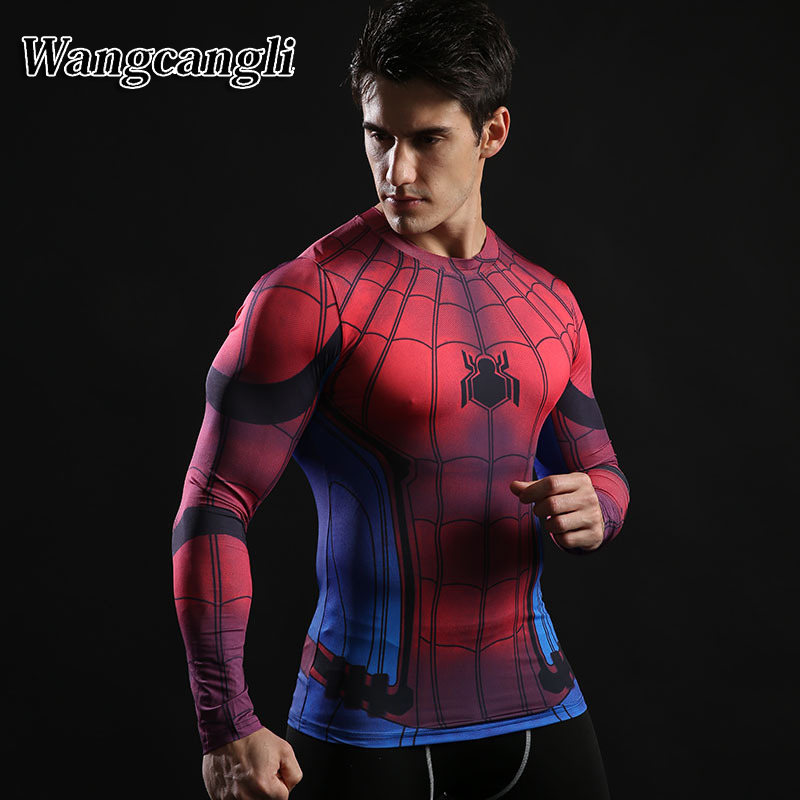 wangcangli Captain America Spider font b Man b font 3d t font b shirt b font