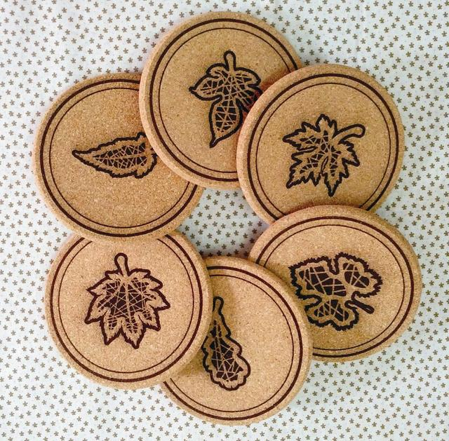 freeshipping Cork coasters customize jottings placemat logo mat at home mat cork mat