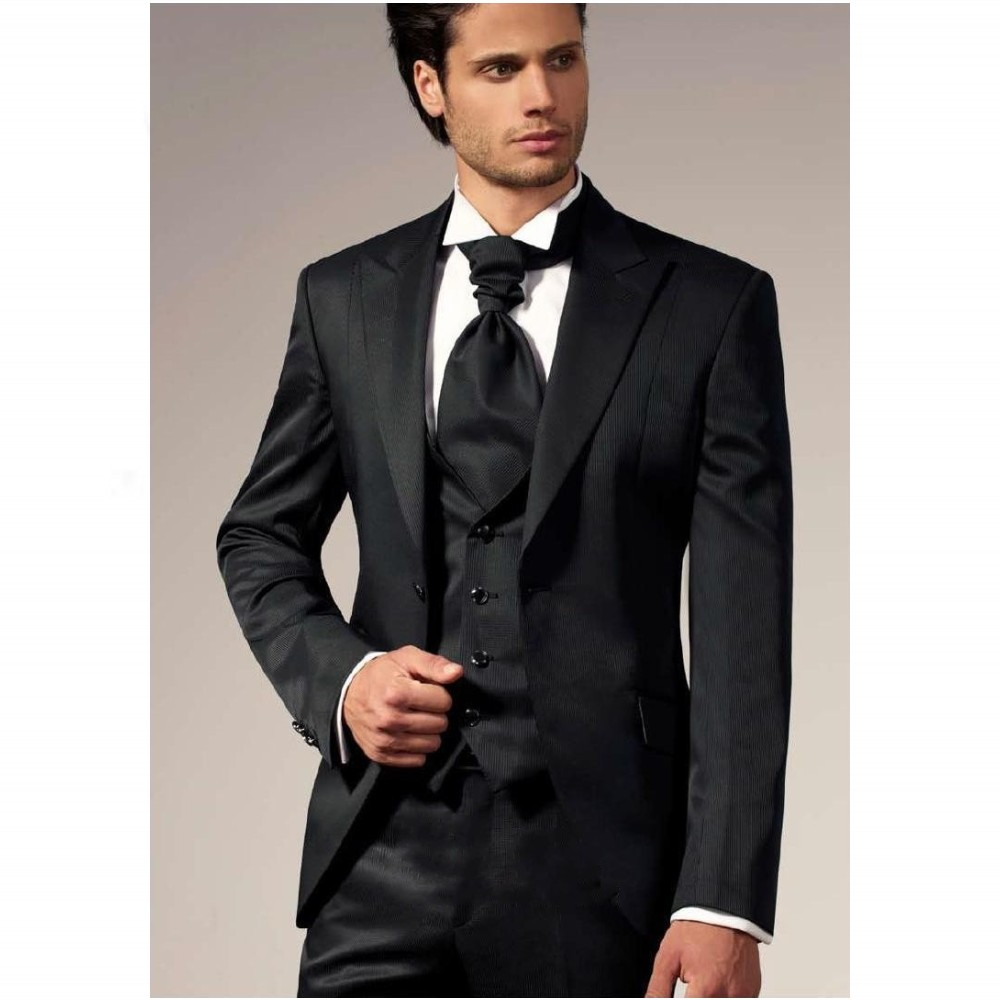 free shipping mens suits black western style