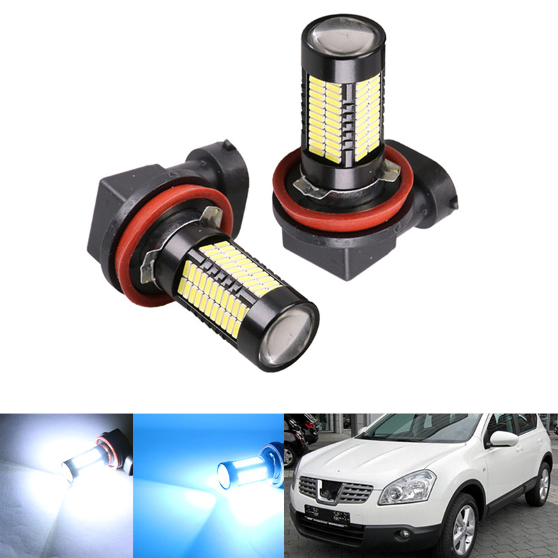 Intellective 2pcs H8 H11 Led Bulb Hb4 Led Hb3 9006 9005 Fog Lights Car Lamp Auto Light Bulbs For Nissan Qashqai J10 J11 Juke X-trail Tiid Superior Materials Automobiles & Motorcycles