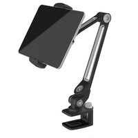 Aluminum Tablet Desk Bed Mount Lazy Stand Adjustable Cell Phone Long Arm Holder for iPad 4 2018 Pro 11/Air/Surface Go/Yoga Book
