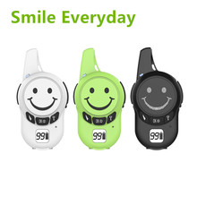 Buy 2PCS Free License UHF Mini Walkie Talkie  Smiley  for Kids JJCC JC-007 Toy Two-Way Radio Smile Transceiver PMR Wireless Intercom directly from merchant!