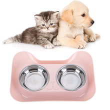 Pet Feeder Durable Stainless Steel Dog Cat Bowls Universal Non-spill Food Bowl Supplies Water