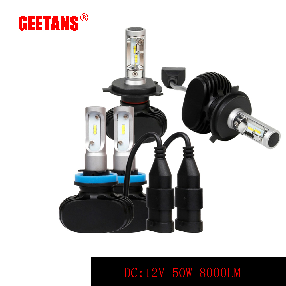 GEETANS H4/H7/H11/H13/9005(HB3)/9006(HB4) P13 LED Car Headlight Hi-Lo Beam Auto Led Headlamp Fog Light Bulb 8000LM 6000K  AE geetans 60w 9600lm h4 h7 led h8 h11 hb3 9005 hb4 9006 h1 h3 car headlight auto bulb automobiles headlamp car fog light lamp h