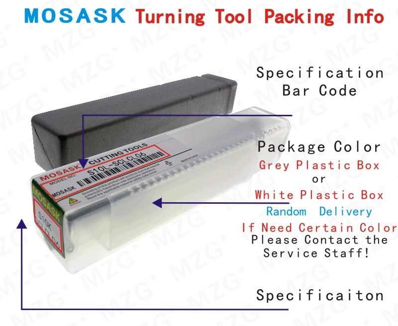 MZG Turning Tool Packing Info