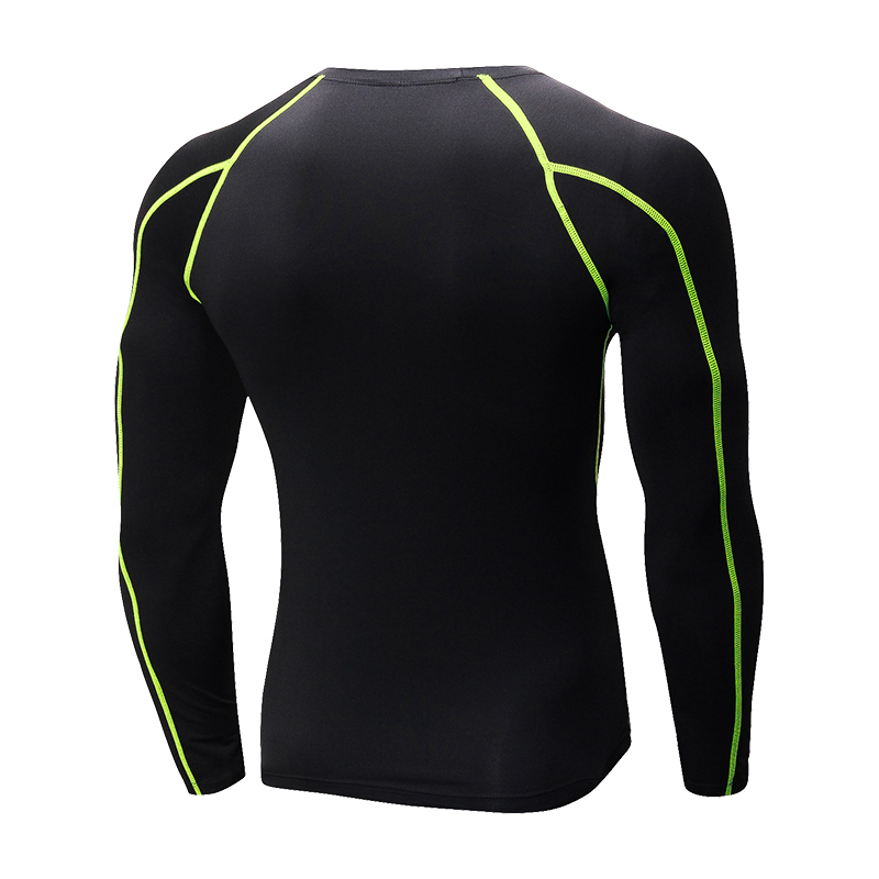 Mens Quick Dry Soccer Sweatshirts Compression Fitness Tights Gym Sportswear Basketball Men Shirt Bodybuilding Rashgard T Shirt in Running T Shirts from Sports Entertainment